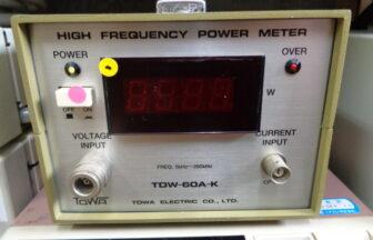 高周波電力計・TDW-60A-K・東和電気